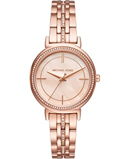 0bcc830a9e11 Amazon.com  Michael Kors Women s Mini Kerry Rose Gold-Tone Watch ...