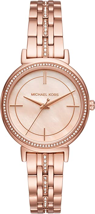 562549ca25f8 Amazon.com  Michael Kors Women s Cinthia Rose Gold-Tone Watch MK3643 ...