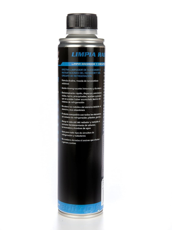 LIMPIA RADIADOR 1x350ml. Efectivo limpiador de suciedades e incrustaciones del radiador y del circuito de refrigeración. Mezcla de ácidos inorgánicos y ...