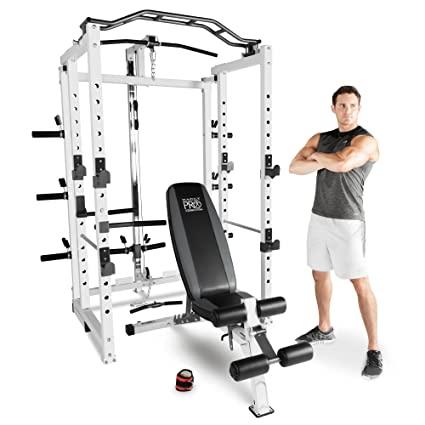 3c316b214cdb6 Marcy Pro Folding Power Cage Home Gym with Weight Bench  Amazon.co.uk   Sports   Outdoors