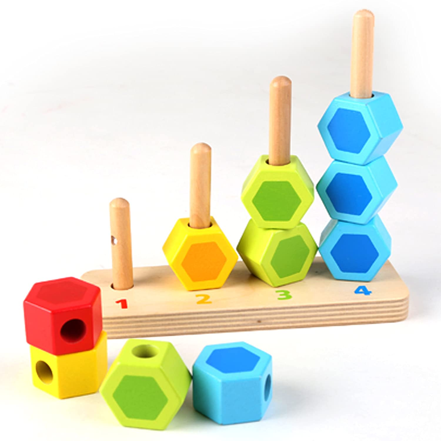 Amazon Hape Counting Stacker Toddler Wooden Stacking Block