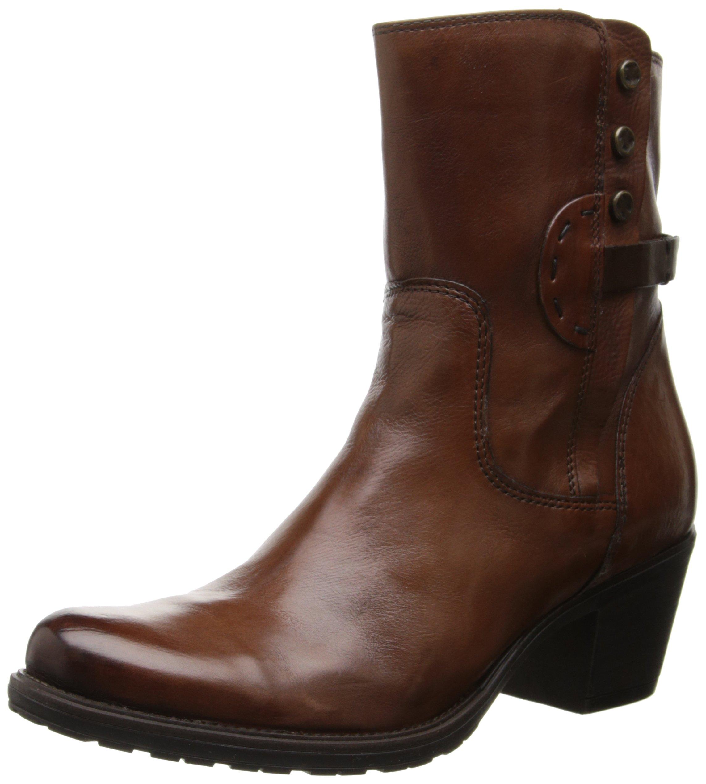 Clarks Women's Maymie Skye Chelsea Boot,Cognac Leather,9.5 M US
