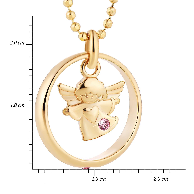 fish M/ädchen Junge Silberkette Gold Beschichtet Schutzengel-Anh/änger Taufring Taufgeschenk Blau Geschenkbox Christliche Geschenke