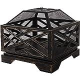 "Amazon Basics 26"" Geometric Square Fire Pit"
