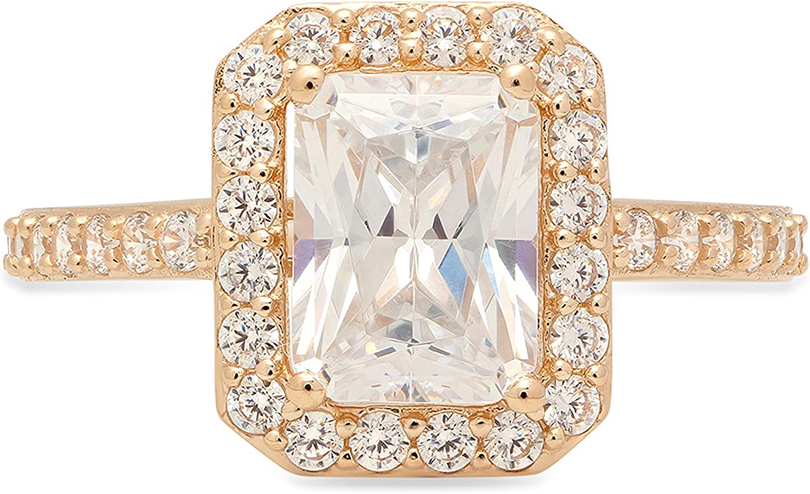 1.9ct Princess Promise Bridal Wedding Channel Set Stacking Band 14K Yellow Gold