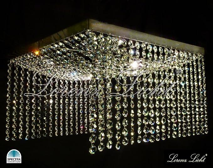 Laura - Lámpara de techo de cristal con Swarovski Crystals ...
