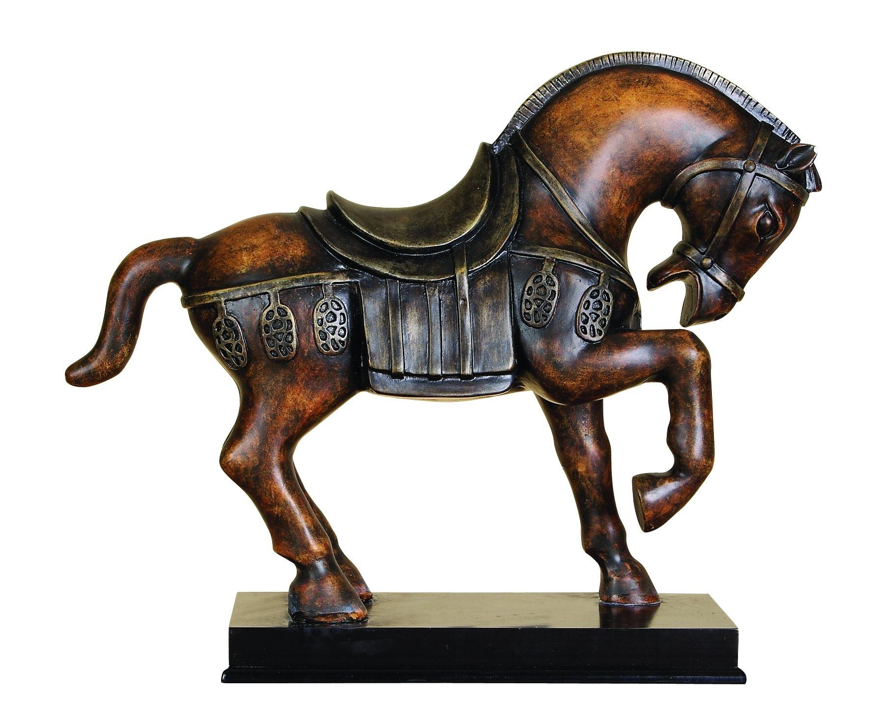 Benzara 22465 Polystone Tang Horse Unique Table Accent Animal Statue by Benzara (BENZD)