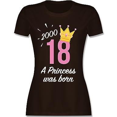 Geburtstag - 18 Geburtstag Mädchen Princess - S - Braun - L191 - Damen T-