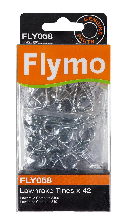 Flymo FLY058 - Juego de púas metálicas para rastrillos Compact 340/3400 Husqvarna FL5048070-01/4