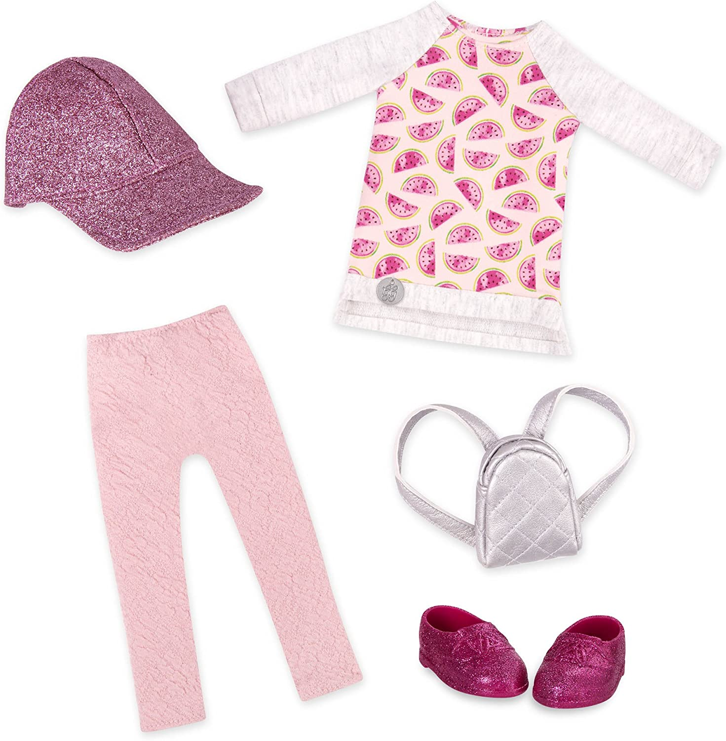 """Glitter Girls by Battat - Head To Toe Glimmer Tunic & Leggings Deluxe Outfit - 14"""" Doll Clothes & Accessories Toys"""