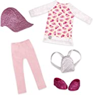Glitter Girls by Battat - Head To Toe Glimmer Tunic & Leggings Deluxe Outfit - 14