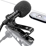 Lavalier Lapel Microphone with Easy Clip On System | Perfect for Recording Youtube Vlog Interview / Podcast | Best Lapel Mic for iPhone iPad iPod Android Mac PC