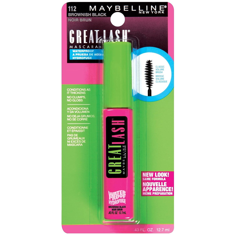 Maybelline Great Lash Waterproof Mascara, Brownish Black: Amazon.es: Salud y cuidado personal
