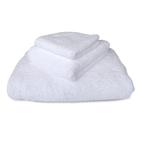 graccioza largo doble loop toalla colección – color blanco – fabricado en Portugal, 700-