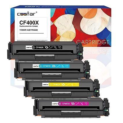 CSSTAR Paquete de 4 Compatible Cartuchos de Tóner Reemplazo para ...