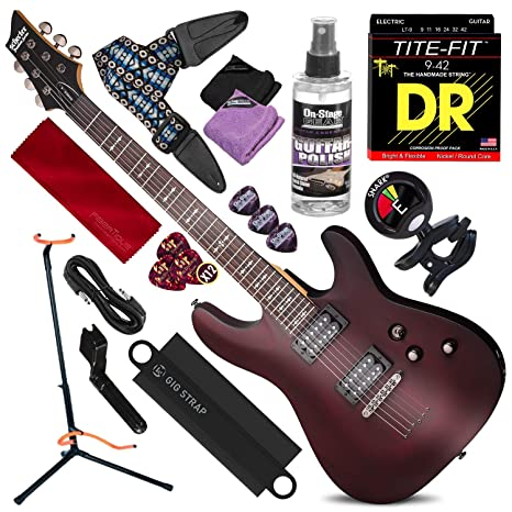Schecter OMEN-6 Guitarra Eléctrica de 6 Cuerdas (Nogal Satinado ...