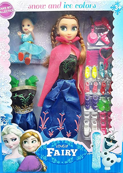 25e2d87aa73 Buy WP Beautiful Frozen Barbie Anna Doll Make Up Set with Accessories Combo  (Multicolour) Online at Low Prices in India - Amazon.in