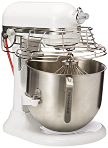 KitchenAid KSMC895WH 8-Quart Commercial Countertop Mixer with Bowl-Guard, 10-Speed, Gear-Driven, White