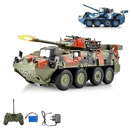 Rc Ferngesteuerter Véhicule Chariot Combat Char Militaire De Léopard kuOPTXZi