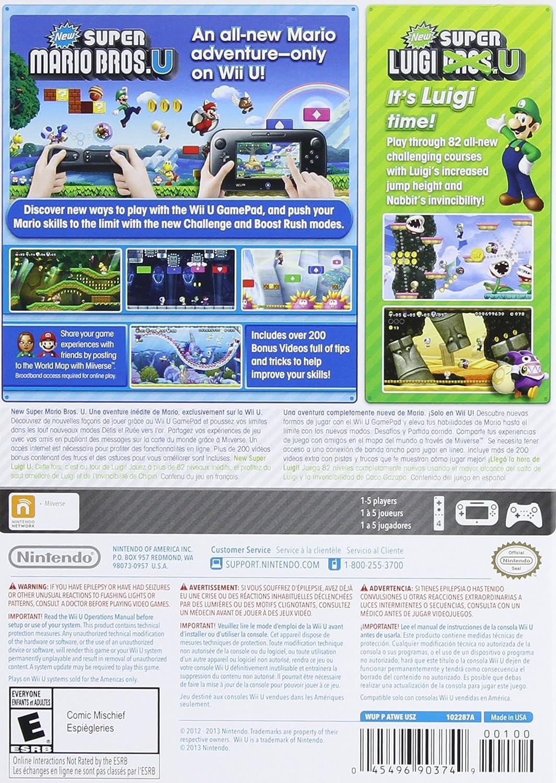 Amazon com: New Super Mario Bros  U + New Super Luigi U