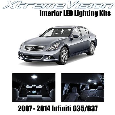 XtremeVision Interior LED for Infiniti G35 G37 Sedan 2007-2014 (10 Pieces) Pure White Interior LED Kit + Installation Tool: Automotive