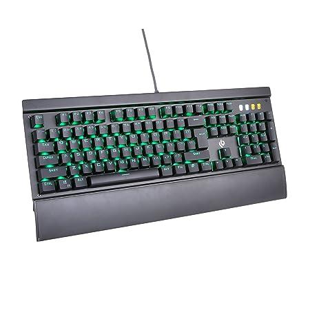 leobog K26 con cable teclado para juegos teclado mecánico RGB,, retroiluminación de color RGB, 104 Clave, Anti-ghosting para interruptores totalmente clave, ...