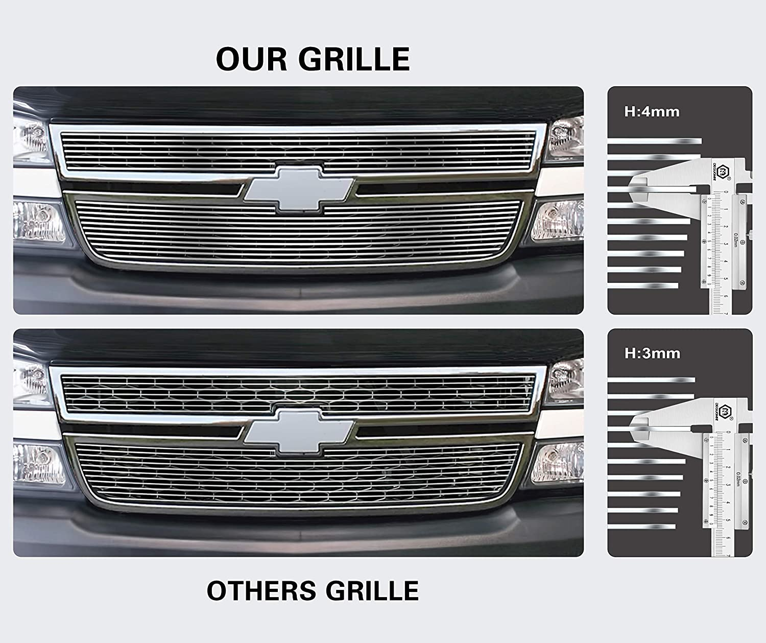 APS Compatible with 1989-1992 Ford Bronco 2 Ranger 1990-1994 Explorer Billet Grille S18-A60058F