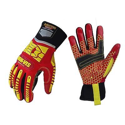 Seibertron HIGH-VIS HRC5 Rigger Excellent Grip Cut5 Handyman/Box Handler Gloves Abrasion Resistant Oil & Gas Drilling Safety Impact Protection Gloves CE EN388 3541 L