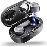 Elecder D10 完全ワイヤレスイヤホン bluetooth 5.0 高音質 IPX5防水 自動ペアリング 安定する接続 フィット感 良い遮音性 (黒)