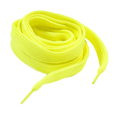 Neon Yellow Fluorescent Shoe Laces By Generic OmWMQ