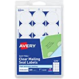 Avery Mailing Seals, Clear, Permanent,Non-Perforated, 480 per Pack (5248)