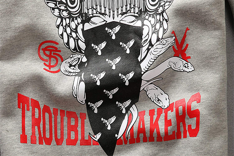 BASIC HOUSE Mens//Womens Hoodies Crooks Casual Hip Hop O-Neck Plus Velvet Sweatshirt Pullover