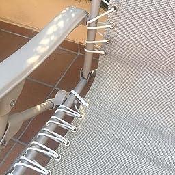Lafuma Cuerdas eslásticas para hamaca Siesta L, 8 metros, Blanco, LFM2405-0020: Amazon.es: Jardín