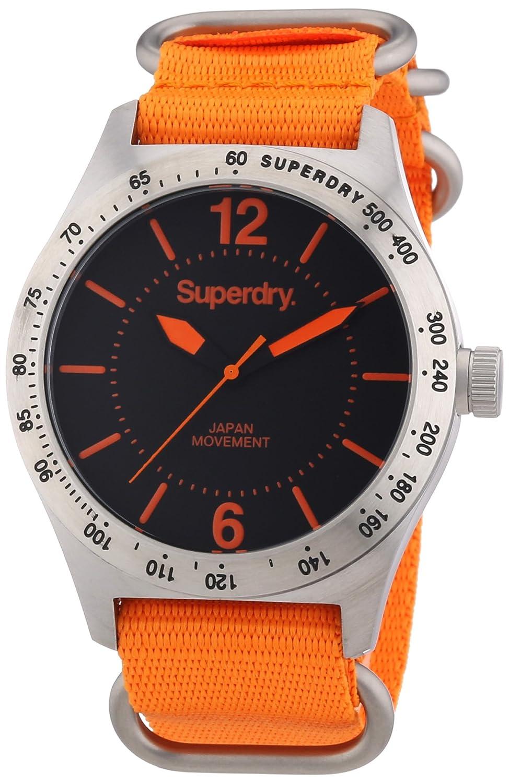 Superdry Herren-Armbanduhr XL Analog Quarz verschiedene Materialien SYG112O