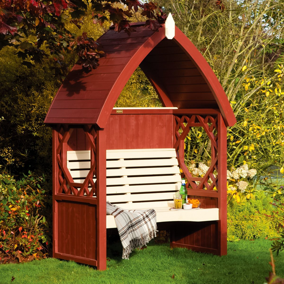 gartenlaube traumgarten rotbraun online kaufen. Black Bedroom Furniture Sets. Home Design Ideas