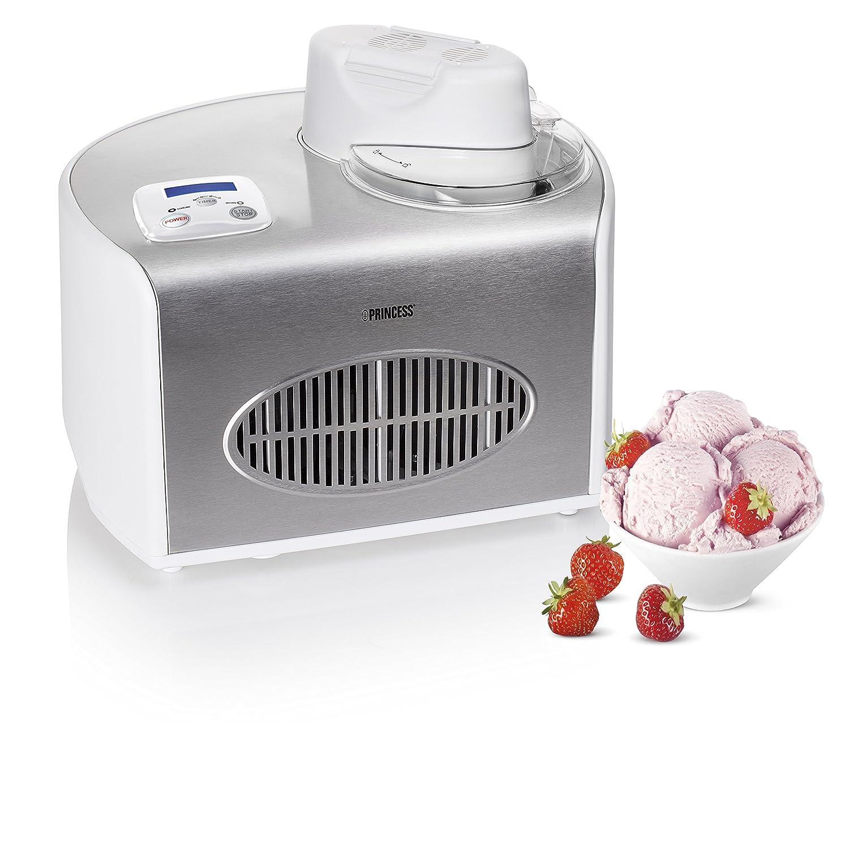 Princess Compresor de helados L W Plata Color blanco máquina para helados