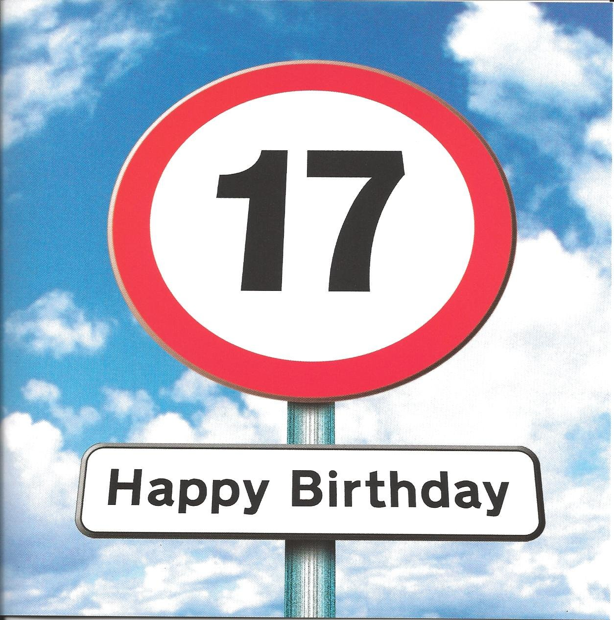 Twizler 17th birthday card for teenager roadsign 17 year old twizler 17th birthday card for teenager roadsign 17 year old age 17 amazon office products kristyandbryce Choice Image
