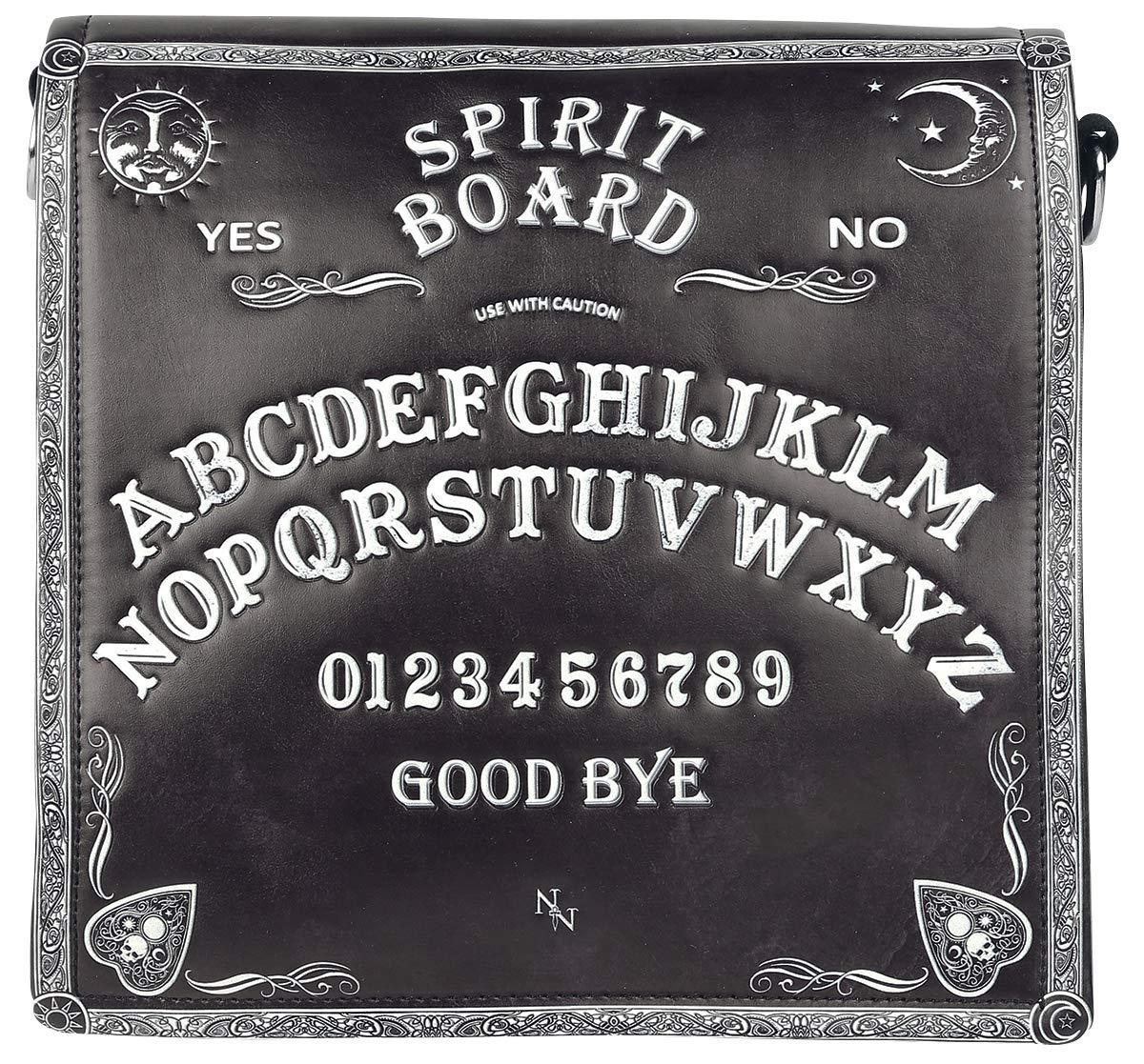 Nemesis Now Spirit Board Bolso Bandolera Negro-Blanco