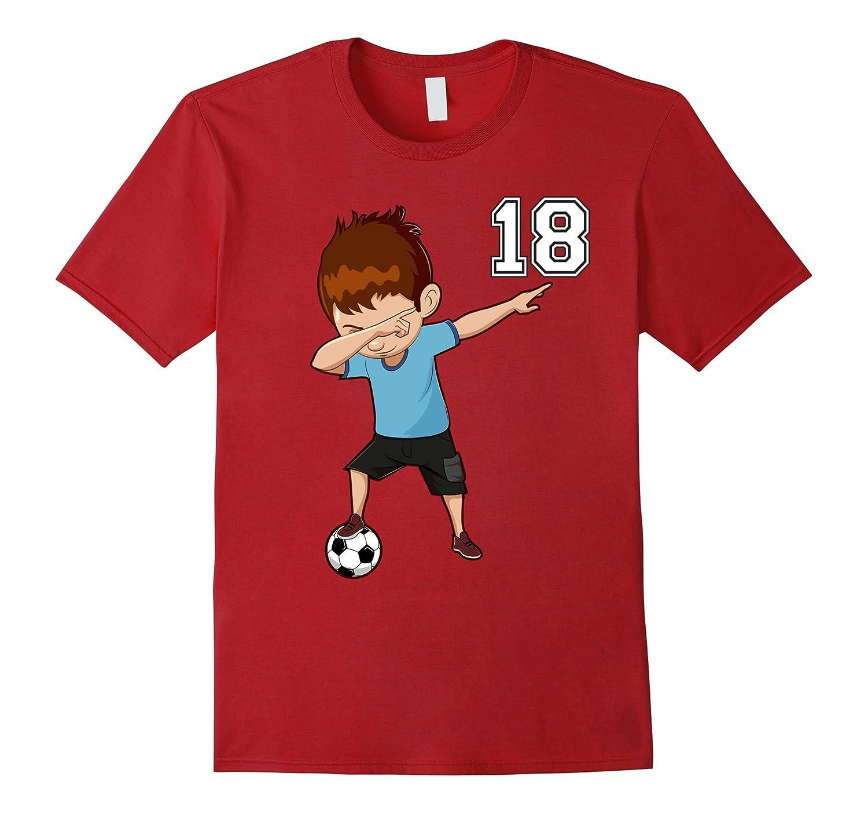 #18 Soccer Shirt Boys Funny Dabbing Dab Dance Soccer Ball-Art