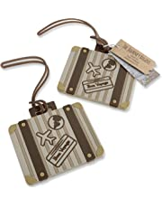 Let the Journey Begin Vintage Suitcase Luggage Tag