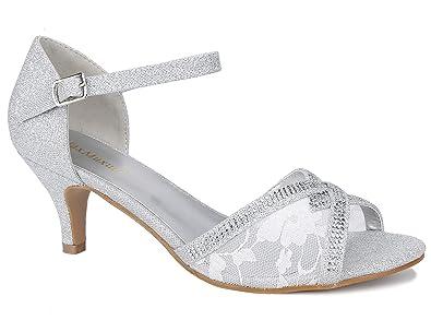 80bddb458a69e Amazon.com | MaxMuxun Women Shoes Glitter Ankle Strap Open Toe ...
