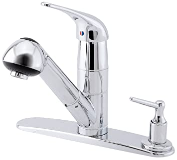 Danze D455512 Melrose Single Handle Pull Out Kitchen Faucet With