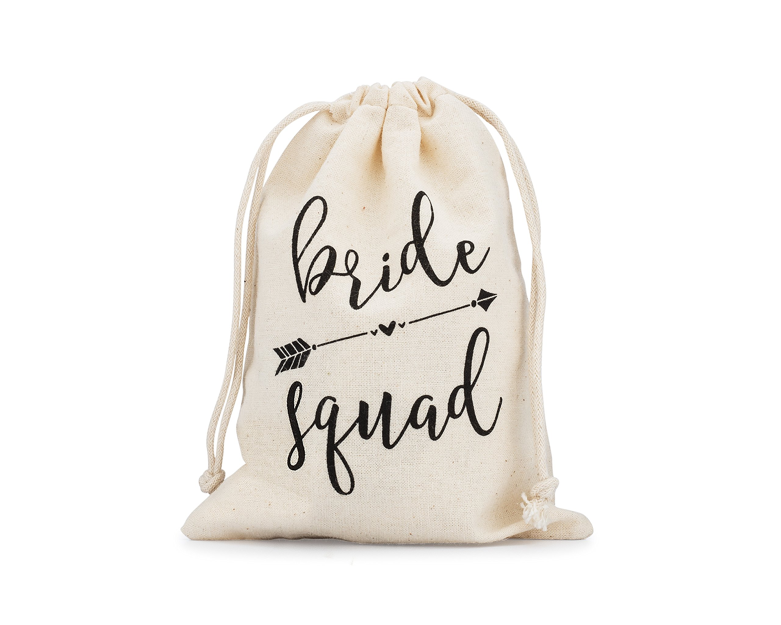 Fun Bride Squad Gift Bags 10 pcs 5'' x 7'' Survival Kit Bachelorette Party Wedding Party Favor Gift Recovery Kit Hen Party Girls Night Out Bridal Gifts Bridesmaids Gifts