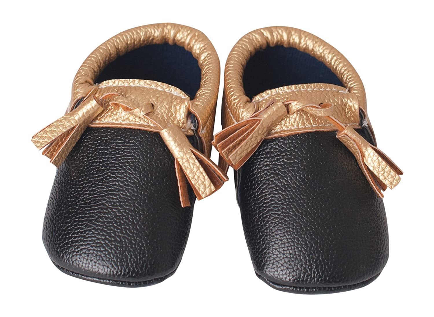 Made from Vegan Leather Material Lightweight Shoes for Baby and Toddler by Perfect Present for Baby Shower Lilac /& Lavender Tasseled Baby Moccasins with Soft Soles