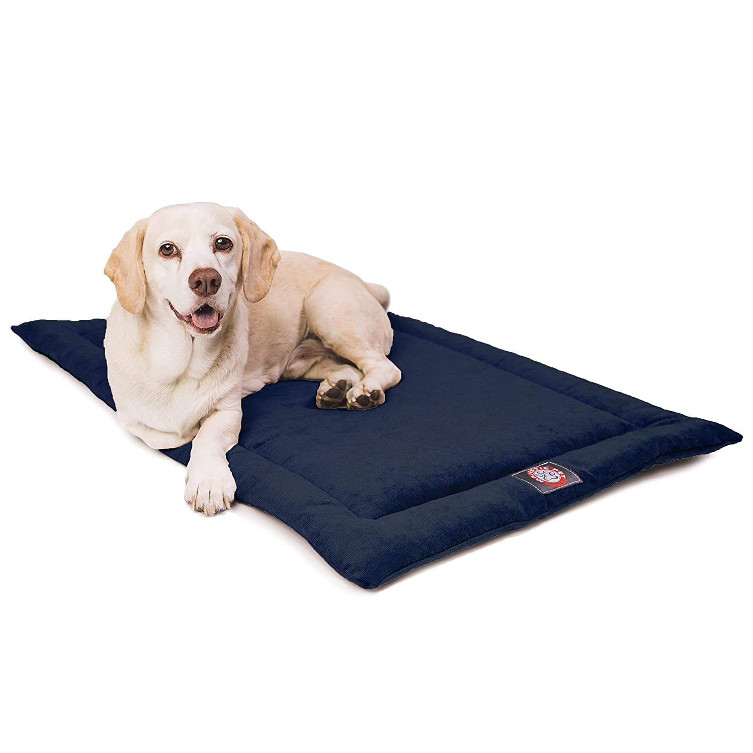 Navy bluee 24-Inch Navy bluee 24-Inch 24  Villa Navy bluee Crate Dog Bed Mat Majestic Pet Products