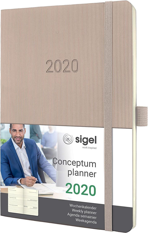 Sigel Wochenkalender 2020 Conceptum C2066 Hardcover A5 Notiz Kalender dunkelgrau