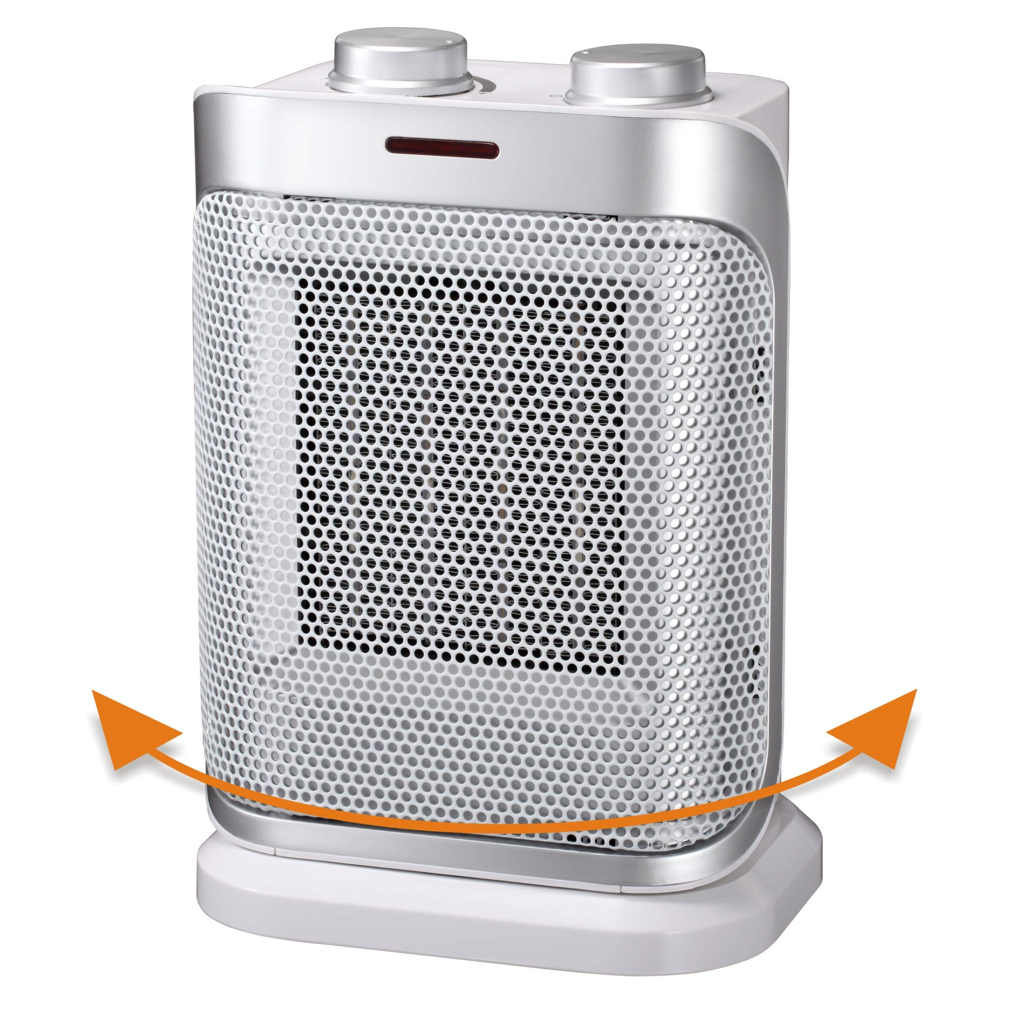 andily Space Heater Electric Heater for Home and Office Oscillating Ceramic Small Heater with Thermostat, 750W/1500W