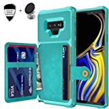 Galaxy Note 9 Wallet Case, Sumsung Note 9 Durable Shockproof Slim Magnetic Flip Leather Card Slots Holder Kickstand Protective Case Cover Included Car Phone Mount