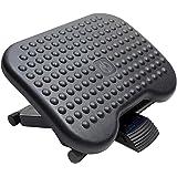 HUANUO Adjustable Under Desk Footrest - Ergonomic Foot Rest with 3 Height Position - 30 Degree Tilt Angle Adjustment for Home