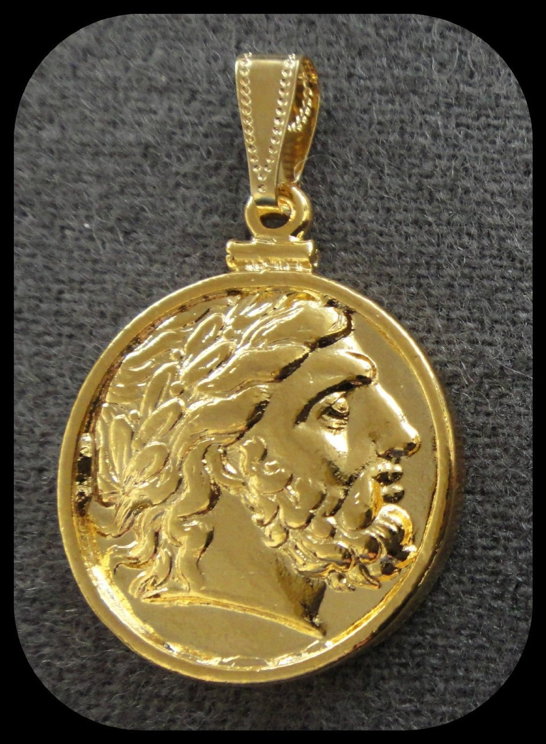 coin pendant zeus king of gods  k gold plated amazoncouk  - coin pendant zeus king of gods  k gold plated amazoncouk kitchen home